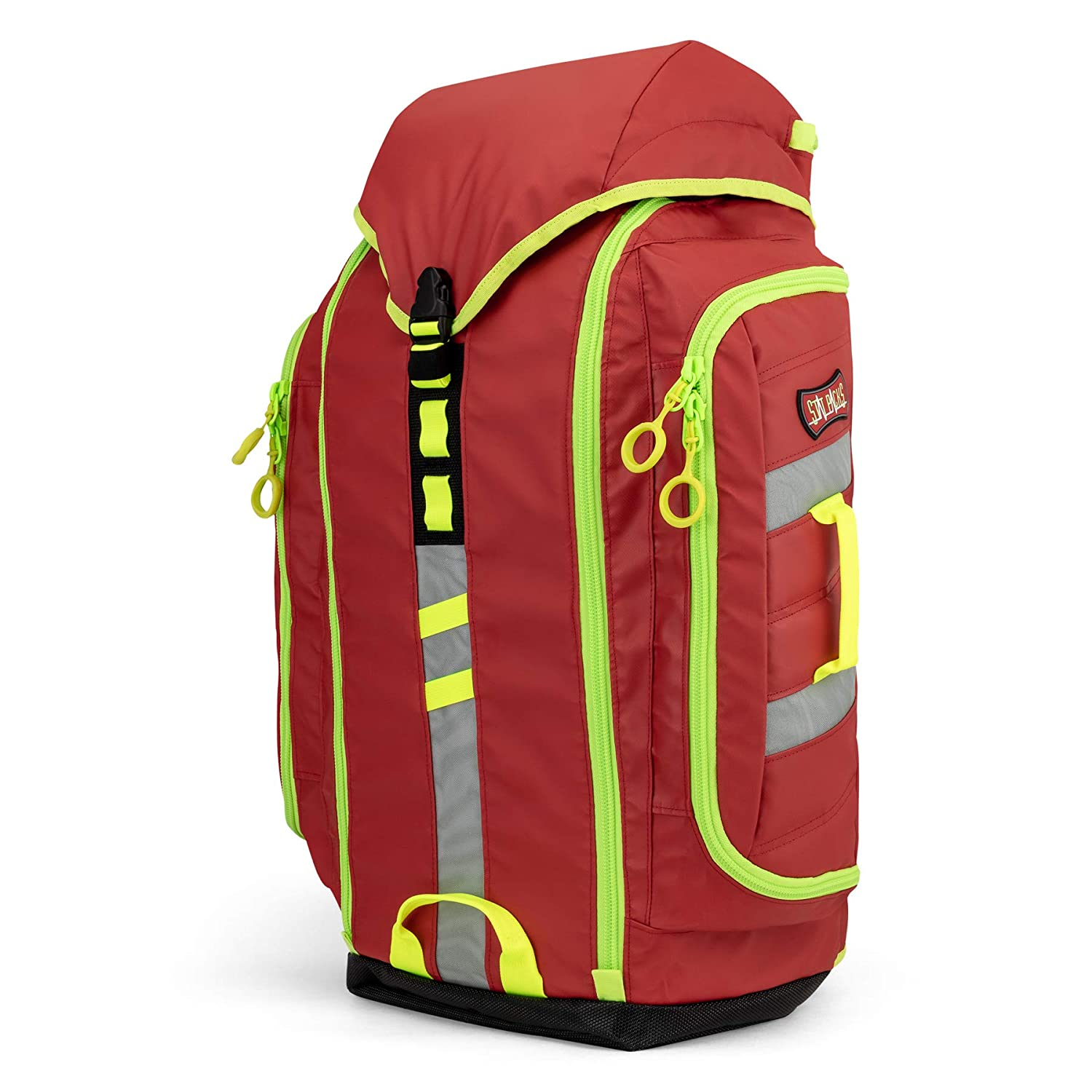Emergency medic backpack red and fluorescent yellow, StatPacks G3 backup red, Urban emt