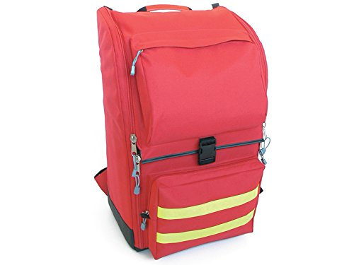 Red and flashy emergency medical backpack