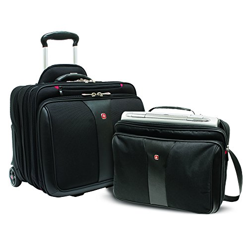 The Wenger business case on wheels with matching padded, removable laptop case with wheels