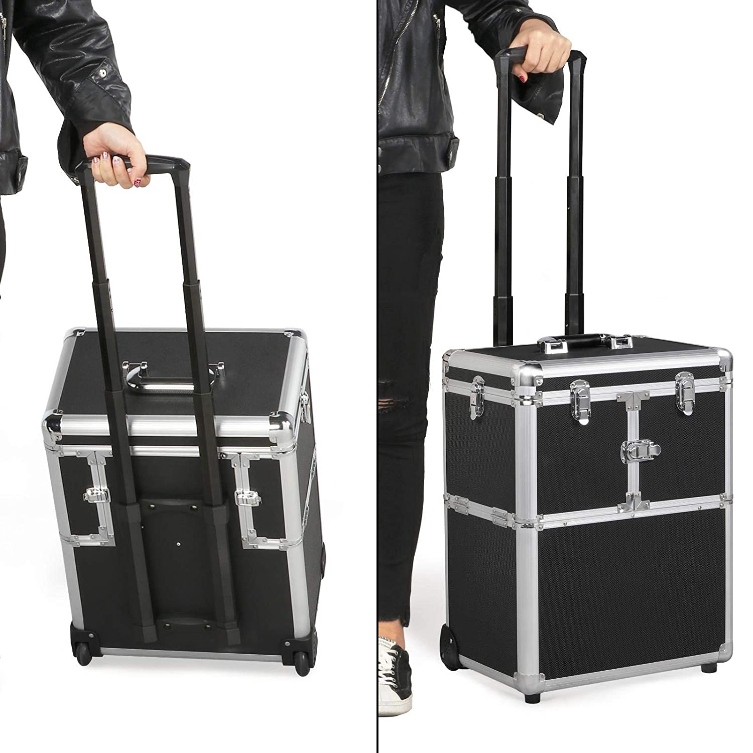 Yaheetech trolley professional makeup case