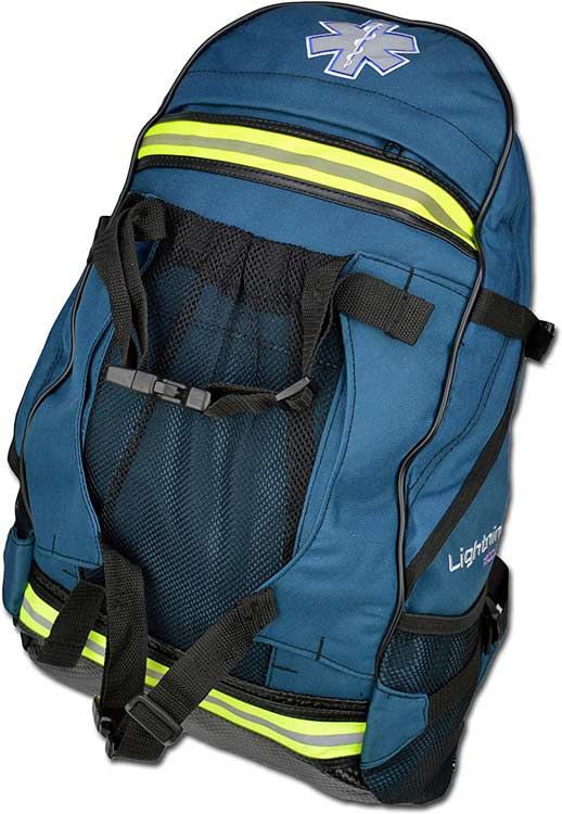 Emergency blue medical backpack,  Lightning X EMS special events first aid emt first responder trauma backpack
