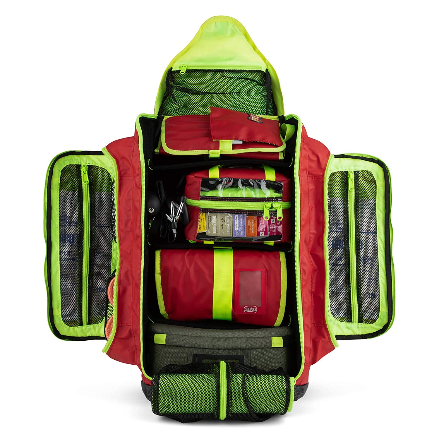 Compartmentalisation of the medical rescue backpack, Statpacks G3 backup red