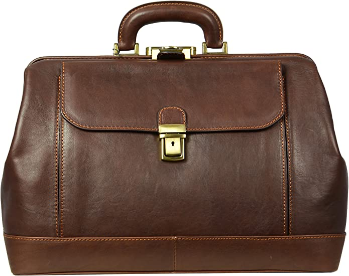 Brown leather doctor's bag Time resistance