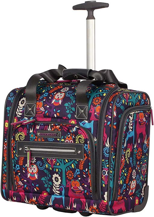 Lily Bloom Designer 15 Inch Carry On - Weekender Overnight Business Travel Luggage