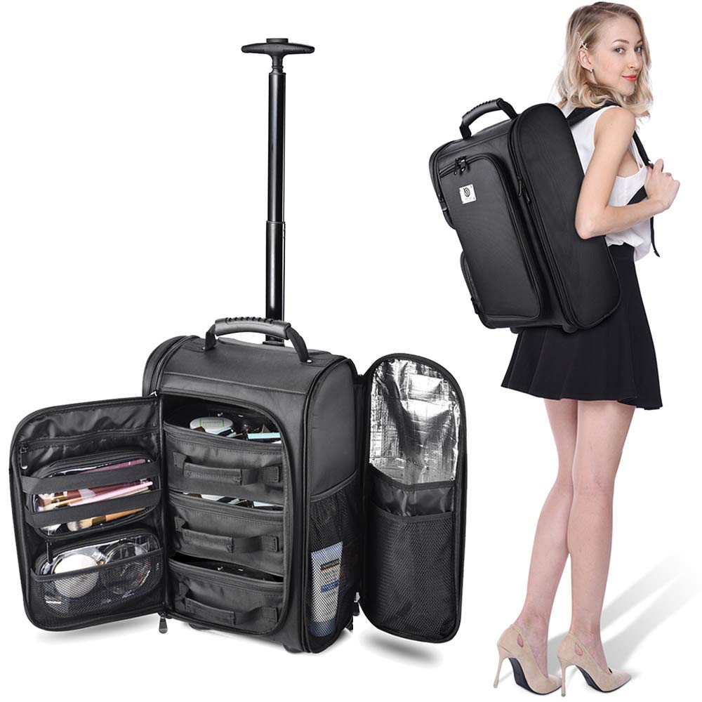 Professional makeup backpack and trolley, Byootique