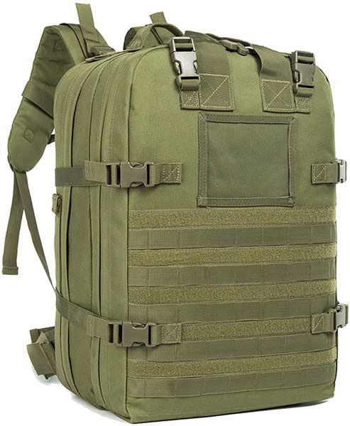 Medical backpack in military green canvas