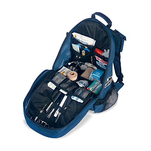 Well-organised interior of the Arsenal medical backpack