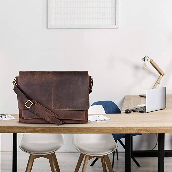 The good looking Vintage leather messenger bag