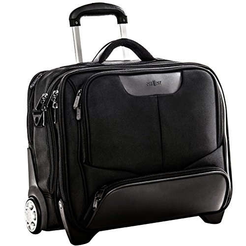 Work bag on wheels with removable black Memy laptop case