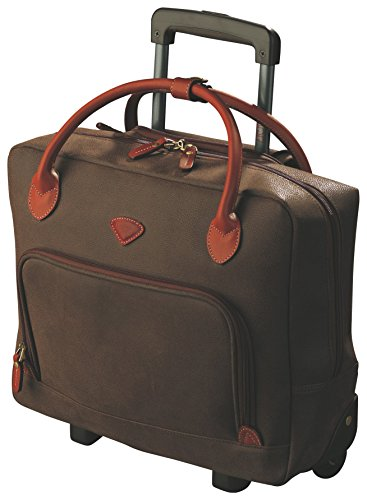 Chocolate-coloured Jump work bag on wheels 33 x 43 x 12 cm and 2.6 Kg, 16 litres