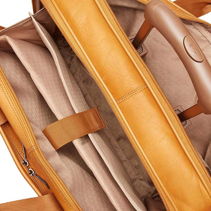 Solo New York Walker Leather Rolling Laptop Bag, tan
