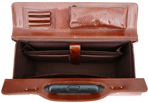 The doctor's trolley case can hold a laptop in its matching compartment.